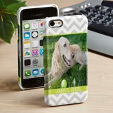 Personalized iPhone 5C Photo Cell Phone Case - Picture Perfect Chevron - 14107