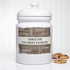 Personalized Cookie Jars - Our Loving Family - 14119