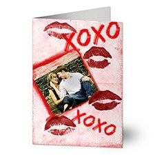 Personalized Photo Valentine's Day Cards - Hugs & Kisses - 14125