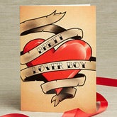 Personalized Valentine's Day Cards - Tattoo Heart - 14126