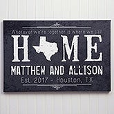 Personalized Canvas Prints - State of Love - 14131