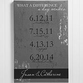 Personalized Canvas Art Prints - Special Dates - 14135