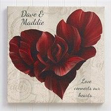 Personalized Canvas Prints - Romantic Heart - 14136