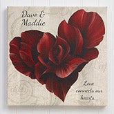Personalized Romantic Canvas Prints - Flower Petal Heart - 14136