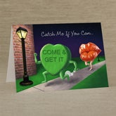 Personalized Valentine's Day Greeting Cards - Candy Heart & Lips - 14140