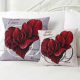 Personalized Throw Pillows - Blooming Heart - 14142