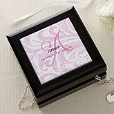 Personalized Keepsake Jewelry Box - Name Meaning - 14143