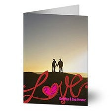 Personalized Romantic Photo Greeting Cards - LOVE - 14150