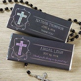 Personalized Candy Bar Wrappers - First Communion Favors - Blessed Day - 14157