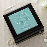 Personalized Cross Jewelry Box - God Bless - 14162