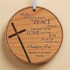Personalized Wood Medallion Keepsake - Blessing for You - 14163
