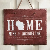 Personalized Slate Plaque - State Of Love - 14170