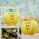 Personalized easter gifts for kids personalizationmall personalized easter baskets easter chick 14176 negle Choice Image
