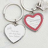 Personalized Heart Key Chains - My Sweetheart - 14177