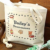 Personalized Dog Canvas Tote Bag - 1418