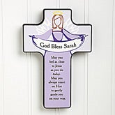 Personalized Wall Cross - Angel Blessings - 14185
