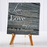 Personalized Desktop Canvas Prints - Love Is Patient - 14186