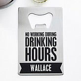 Personalized Bottle Opener Card - Beer Quotes - 14187