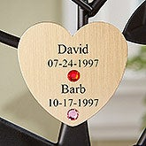 Personalized Birthstone Family Tree Gold Heart Disc - 14193D