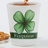 Personalized Shot Glass - Lucky Clover - 14212
