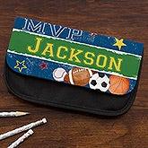 Personalized Sports Pencil Case - Ready, Set, Score - 14219