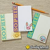Personalized Kids Notepads - Smiley Face - 14230