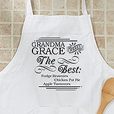 Personalzied Chefs Apron & Potholder - She Makes The Best - 14235