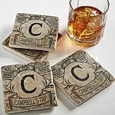 Personalized Stone Coaster Set - Initial Monogram - 14245