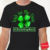 Personalized Irish St Patrick's Day T-Shirts - Lucky Clover - 14246