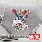 Personalized Marvel Comics Blanket - Wolverine, Spiderman, Iron Man, Captain America - 14263