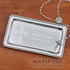 Personalized Jewelry Tray - Christian Cross - 14291
