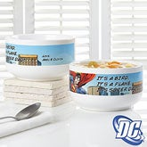 Personalized Superman Cereal Bowls - 14296
