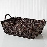 Mahogany Wicker Storage Basket - 14297