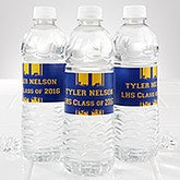 Personalized Water Bottle Labels - Graduation School Spirit - 14303