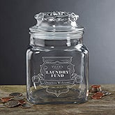 Personalized Glass Money Jar - College Fund - 14304