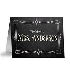 Personalized Teacher Note Cards - Chalkboard - 14320