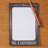 Personalized Teacher Notepads - Chalkboard - 14321