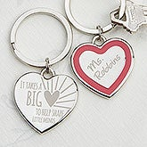 Personalized Key Rings - Teacher's Heart - 14326