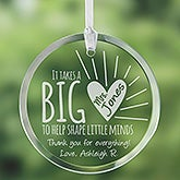Personalized Suncatchers - A Teacher's Heart - 14327