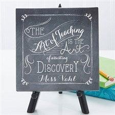 Personalized Desktop Canvas Print - Teacher Quotes - 14332