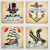 Personalized Canvas Prints - American Tattoo - 14337