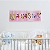 Personalized Kids Name Canvas Prints - Alphabet Animals - 14343