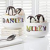 Personalized Kids Snack Bowls - Alphabet Animals - 14344