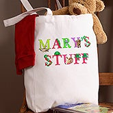 Personalized Kids Tote Bags - Alphabet Animals - 14346