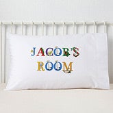 Personalized Kids Pillowcases - Alphabet Animals - 14348