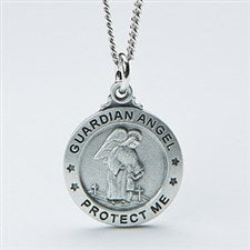 Personalized Kids Pendant Necklace - Guardian Angel - 14351