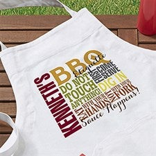 Personalized BBQ Apron & Potholder - Barbecue Rules - 14376