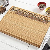 Personalized Grill Cutting Board - Eat, Drink, BBQ - 14377