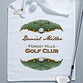 Personalized Golf Towels - Golf Course - 14382