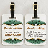 Personalized Golf Bag Tags - Golf Course - 14384